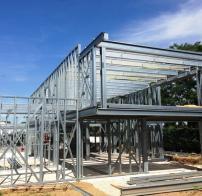 Construction d'une maison individuelle à ossature métallique à Bischwhir (68)