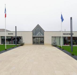 Construction d'une mairie et d'une bibliothèque à Fontaine Etoupefour (14)