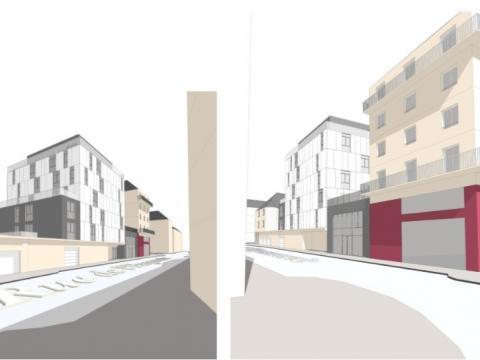Construction d'un bâtiment de logements collectifs avec une zone tertiaire à CAEN (14)