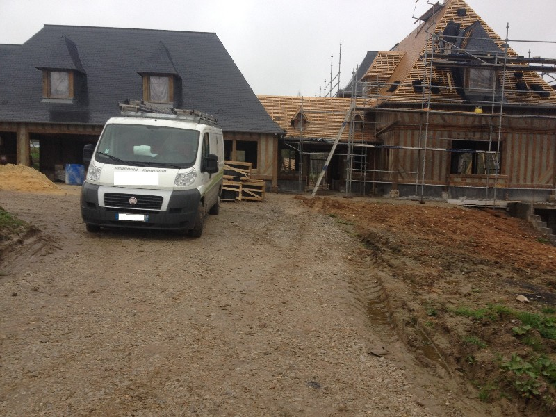 Construction d'une maison individuelle et annexe à Lisieux (14)