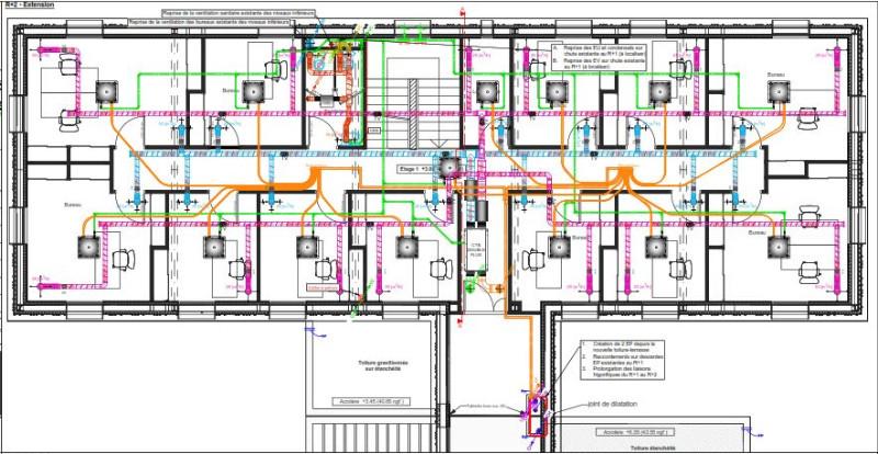 Extension et réaménagement de bureaux